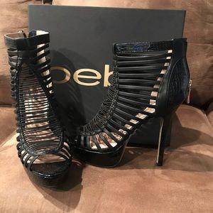 Black Platform bebe Heels